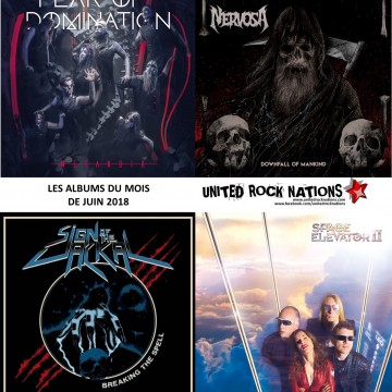 LES ALBUMS DU MOIS DE LA REDACTION de Nervosa, Fear Of Domination, Sign Of The jackal, Space Elevator