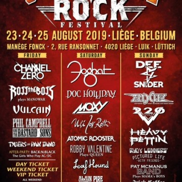 GOLDEN AGE ROCK FESTIVAL avec Phil Cambell, Dee Snider, Tygers of Pan Tang....du 23 au 25 aout de