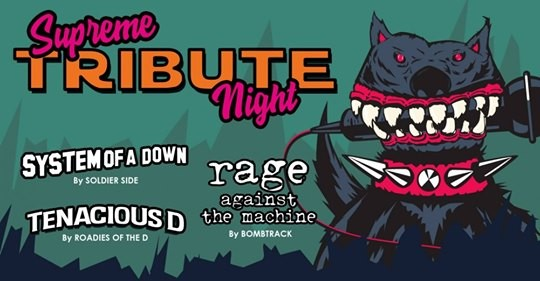 Live report@ Supreme Tribute Night( Soldier Side/The Roadies Of THe D/Bombtrack à Toulouse ( l'Usine à Musique)
