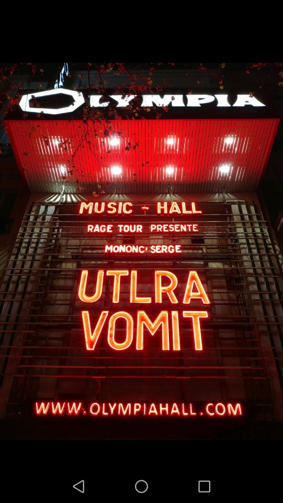 Report ULTRA VOMIT @ l'Olympia le 13/10/2018!